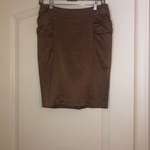 Light brown (bronze) knee length skirt